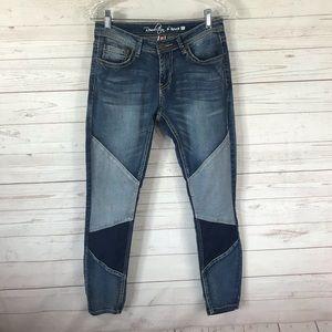 Revolution by Revolt patched skinny jeans sz 7